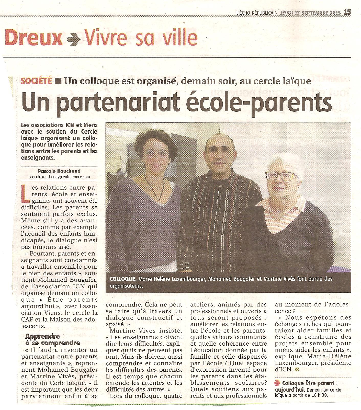 Colloque tre parent